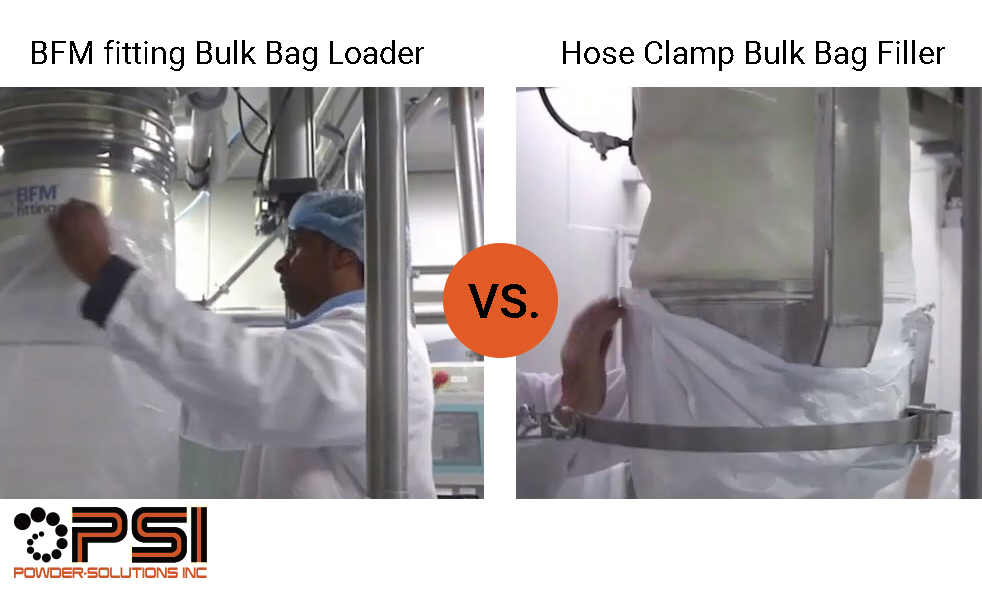 BFM fitting Bulk Bag Loader vs. Hose Clamps