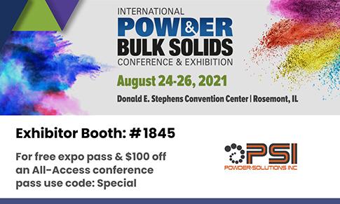 Powder-Solutions公司。iPBS粉体展参展