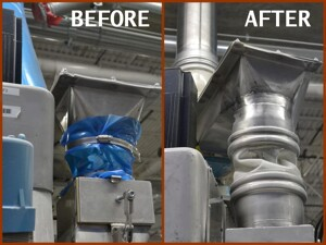 machine before and after BFM fitting