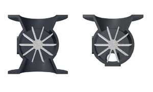 Illustrations of Blow Through-and Drop Through Rotary Valves
