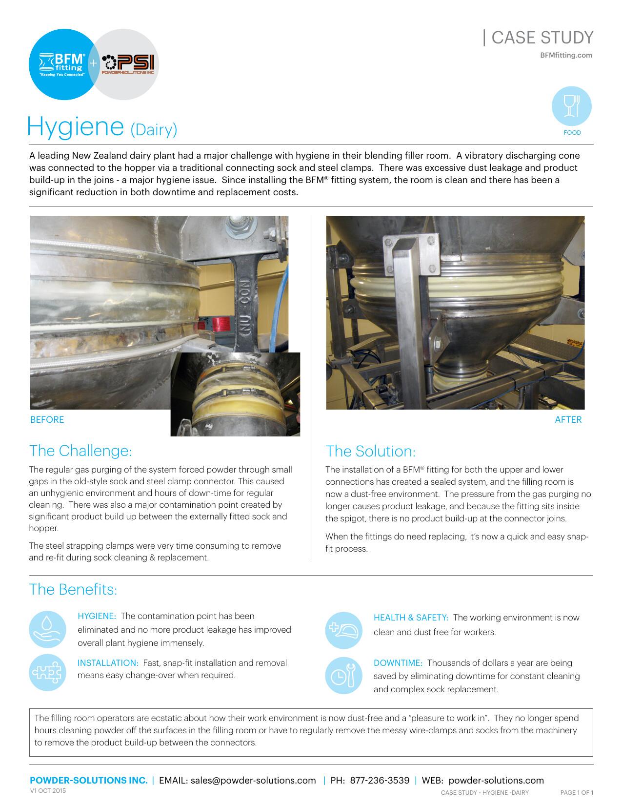 PSI BFM Case Study Hygiene (Dairy) V1 Oct 2015 DAIRY