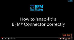 snap fit a bfm fitting video