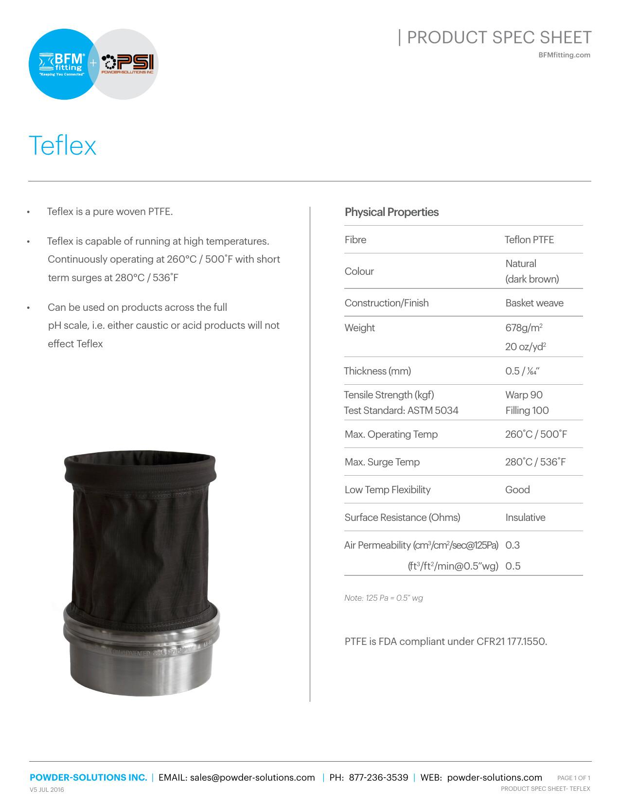 PSI BFM Spec Sheet - Teflex V5 Jul 2016