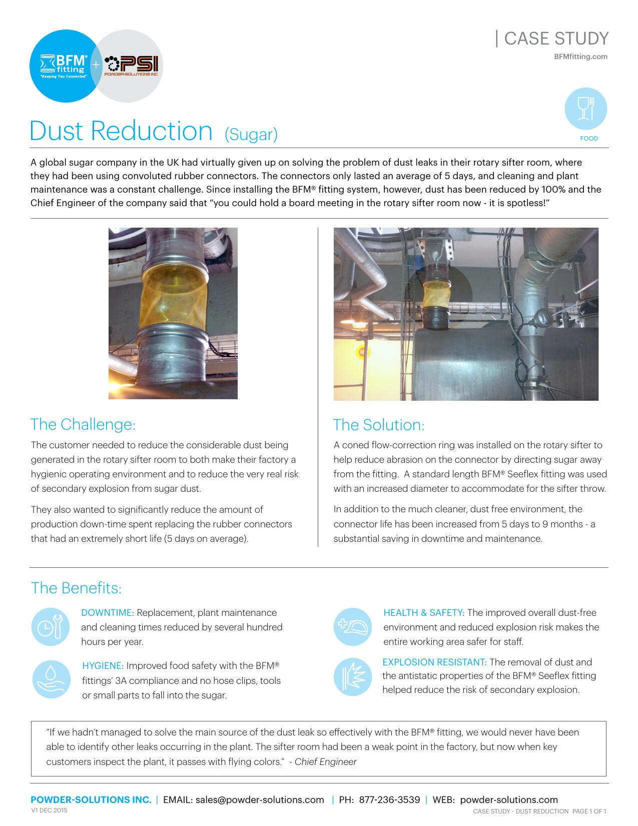 PSI BFM Case Study Dust Reduction (Sugar) V1 Dec 2015
