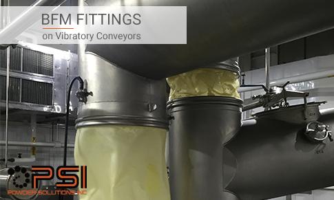 BFM fittings on Vibratory Conveyors